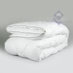 Одеяло 2-й силикон ткань поликоттон БЕЛЫЙ евро (в чемодане)