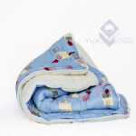 Одеяло мех/силикон ткань бязь евро (в чемодане)