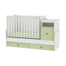 TREND PLUS NEW COLOUR WHITE/GREEN + mattress