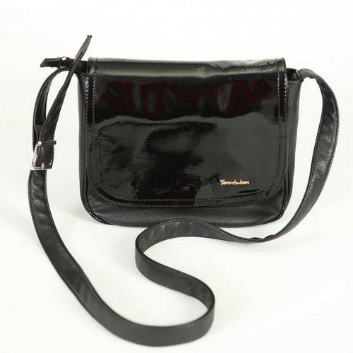 e5b4400f2a35 Женская лаковая сумка через плечо М52-801/лак Сумки комбинированные ...