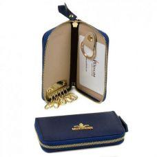 Женская кожаная ключница WKF-1 blue