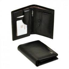 Мужской кошелек из натур. кожи MS-26 black