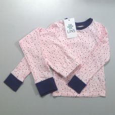 Пижама детская Зоряна (звезды на розовом)
