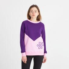 Свитшот Эмили (нежно-розовый + фиолет)