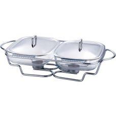 Мармит Kamille Food Warmer 2 блюда по 1.5л 50х30см с подогревом