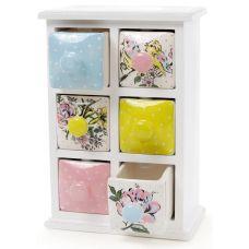 Мини-шкаф для специй Весенняя трель 6 емкостей 17.5х9.5х24.5см