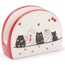 Салфетница керамическая I Love My Cat 10.4х5х8см