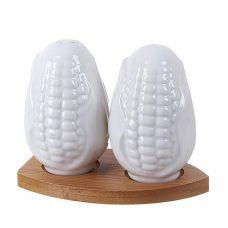 Набор для специй Ceram-Bamboo Кукуруза соль/перец на подставке