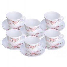 Набор чашек для чая Японская Вишня 190мл на 6 персон