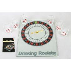 Игра настольная Рулетка питейная прозрачная 20х25см (в наборе 6 стопок)