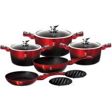 Набор кухонной посуды Berlinger Haus Black Burgundy 10 предметов