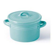 Кастрюлька фарфоровая Fissman Margaret Ø10х6см с крышкой, голубая