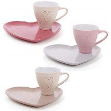 Чайная подарочная пара Shabby Chіc Сердце чашка 250мл с блюдцем