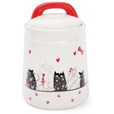 Банка керамическая I Love My Cat 1л для сыпучих продуктов