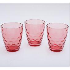 Набор 3 стакана Эмилия-30 красные 350мл