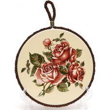 """Подставка под горячую посуду Cream Rose """"Корейская Роза"""" Ø16см"""