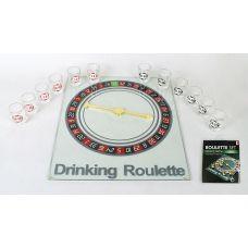 Игра настольная Рулетка питейная прозрачная 30х35см (в наборе 12 стопок)