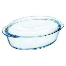 Кастрюля овальная Pyrex Essentіals 3л, жаропрочное стекло