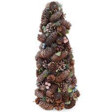 Декоративная елка Шишки и ягоды 48см с натуральными шишками