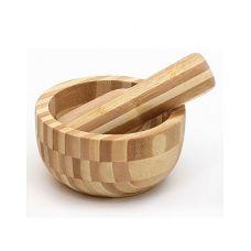 Ступа с пестиком ЭКО-стиль Ø13x6.6см, бамбук