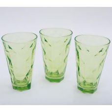 Набор 3 стакана Эмилия-20 зеленые 375мл