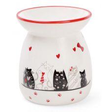 Арома-лампа керамическая I Love My Cat Ø9.2х10.6см