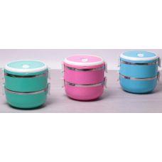 Ланч-бокс Kamille Food Box 2 емкости по 700мл, 16.5х15х15см