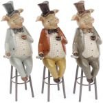 Статуэтка декоративная Свин на стуле 29см
