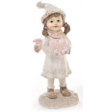 Статуэтка декоративная Девочка с сердцем 15.5см