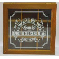 Коробка-шкатулка Compagnie des thes для чая и сахара, 9 секций, 24х24см