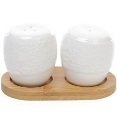 Набор для специй Ceram-Bamboo Кружево соль/перец на бамбуковой подставке