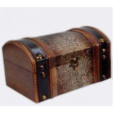 Набор из двух деревянных шкатулок Сундучок Кофр Змеиная Кожа, 24x15x13см и 20x11x10см