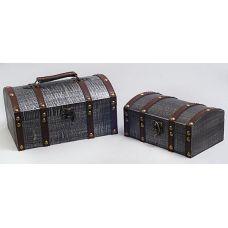 Набор из двух деревянных шкатулок Сундучок Поклажа, 22x15x11см и 18x11x9см