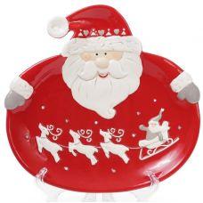 Набор 2 обеденные керамические тарелки Санта 24см