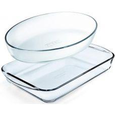 Набор 2 формы для выпечки Pyrex Essentials 30х21см, 35х23см, жаропрочное стекло