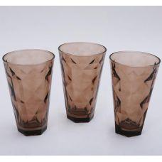 Набор 3 стакана Эмилия-21 коричневые 375мл