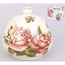 "Сахарница Cream Rose ""Корейская Роза"" 400мл, фарфоровая"