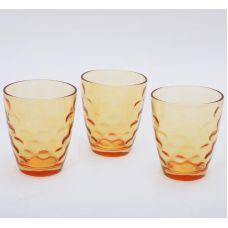 Набор 3 стакана Эмилия-32 оранжевые 350мл
