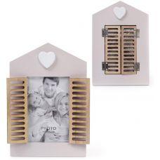 Фоторамка Babyroom Окно со ставнями для фото 10х15см, деревянная