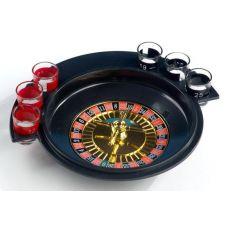 Игра настольная Рулетка питейная 30см (в наборе 6 стопок)