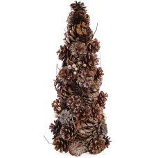 Декоративная елка Шишки золотистые 38см с натуральными шишками