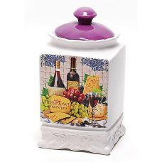 Банка Cheese&Wine 1000мл с крышкой для сыпучих продуктов