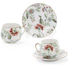 Кофейный набор Альпийский сад 2 чашки 125мл и 2 блюдца, фарфор