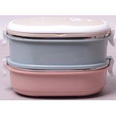 Ланч-бокс Kamille Food Box 2 емкости по 700мл, 20х14.5х13.5см