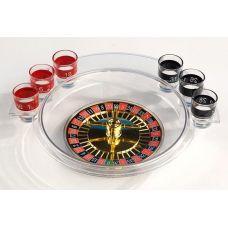 Игра настольная Рулетка питейная прозрачная 30см (в наборе 6 стопок)