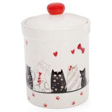 Банка керамическая I Love My Cat 950мл для сыпучих продуктов