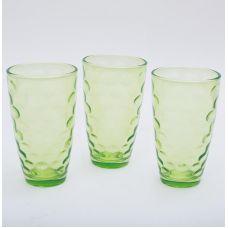 Набор 3 стакана Эмилия-34 зеленые 425мл