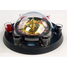 Игра настольная Рулетка питейная с куполом 29см (в наборе 6 стопок)
