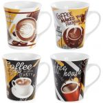 Кружка фарфоровая Coffee makes you friendly 375мл
