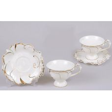 Кофейный набор Princess Gold-E25 2 чашки 150мл и 2 блюдца
